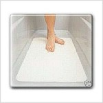 Self adhesive anti slip bathtub mat and non slip treatments. Protection against slip and fall accidents